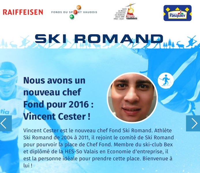 Un bellerin nouveau chef fond du ski-romand !!