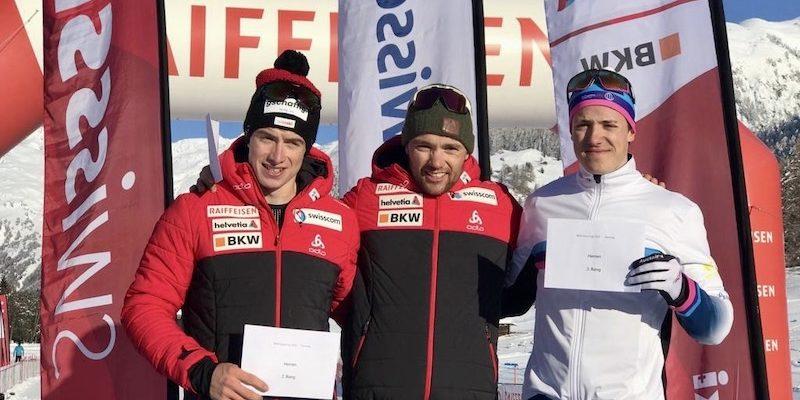 Erwan gagne le sprint de la 1ère Swiss-Cup !