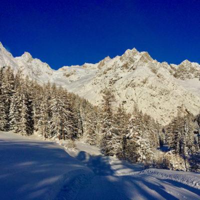 Bel entraînement dans le Val Ferret…