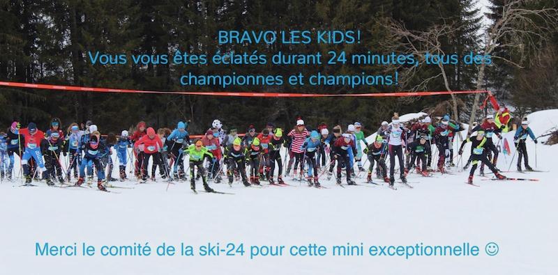 Mini ski-24…7 podiums individuels et une 2ème place en équipe…